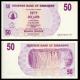Zimbabwe, P-41, 50 dollars, 2006