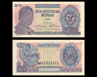 Indonesia, P-103, 2.5 rupiah, 1968