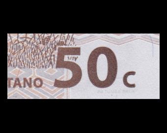 Congo, P-084A, 50 centimes, 1997