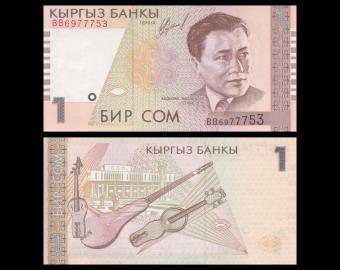 Kyrgyzstan, P-15, 1 som, 1999