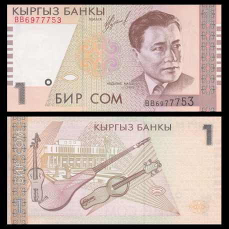 Kirghizistan, P-15, 1 som, 1999