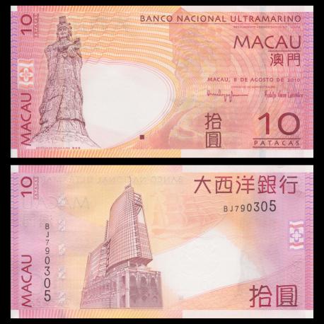Macao, p-80b, 10 patacas, 2010