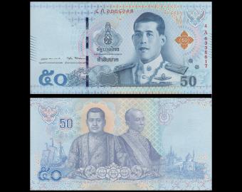 Thailande, P-136, 50 baht, 2018