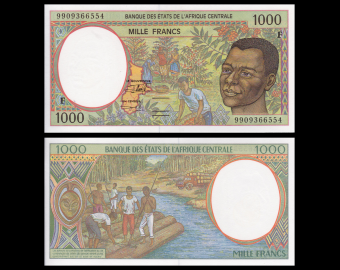 Central African Republic, P-302Ff, 1000 francs, 1999