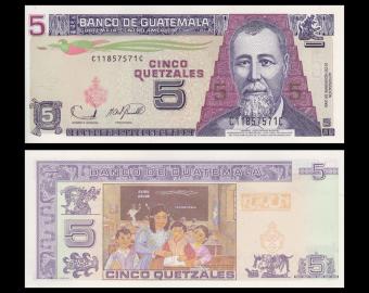 Guatemala, P-106b, 5 quetzales, 2006