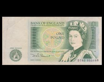 England, P-377b, 1 pound, 1984, TTB / VeryFine