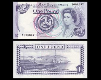 Isle of Man, P-40b, 1 pound, 1991