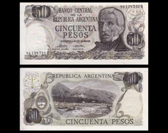 Argentine, P-296b, 50 pesos, 1974-75