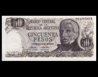 Argentina, P-296b, 50 pesos, 1974-75