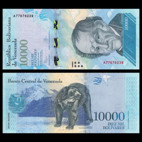 Venezuela, P-98a, 10000 bolivares, 2016