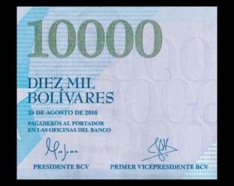 Venezuela, P-098a, 10000 bolivares, 2016