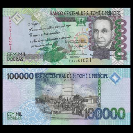 SÃO TOMÉ E PRÍNCIPE, P-69c, 100.000 dobras, 2013