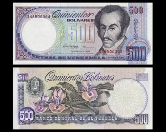 Venezuela, P-67f, 500 bolivares, 1998
