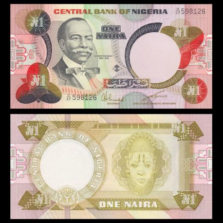 Nigeria, P-23a, 1 naira, 1984