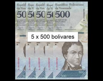 Venezuela, P-94b, 5 x 500 bolivares, 2017