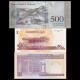 Lot 3 banknotes : riel-rial-bolivare