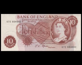 Angleterre, P-373c, 10 shillings, 1970, Sup / ExtFine