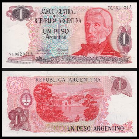 Argentine, P-311a2, 1 peso argentino, 1983