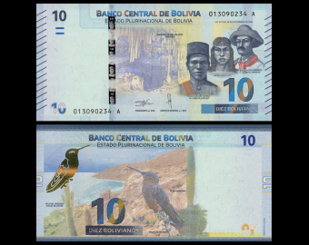 Bolivie, P-new, 10 bolivianos, 2018