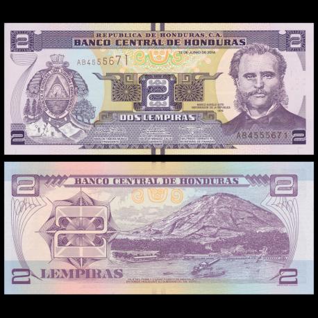 Honduras, P-97b, 2 lempiras, 2014
