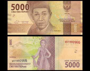Indonesia, P-156c, 5000 rupiah, 2018