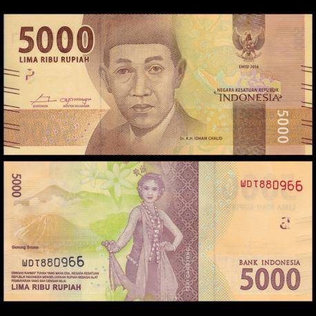 Indonesia, P-156, 5000 rupiah, 2016