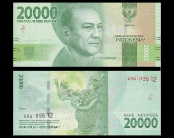 Indonésie, P-158b, 20000 rupiah, 2017