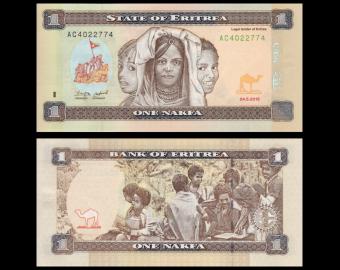 Erythrée, P-13, 1 nakfa, 2015