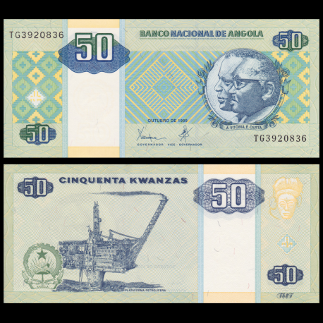 Angola, P-146a, 50 kwanzas, 1999