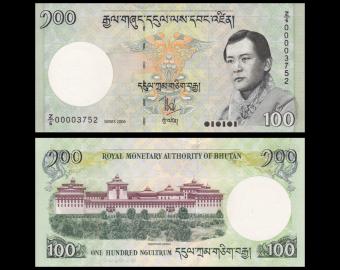 Bhoutan, P-32aZ, 100 ngultrum, 2006