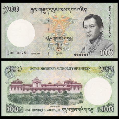 Bhoutan, P-32a, 100 ngultrum, 2006