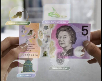 Australie, P-62, 5 dollars, 2016, polymère