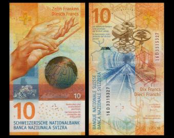 Switzerland, P-75, 10 francs, 2016