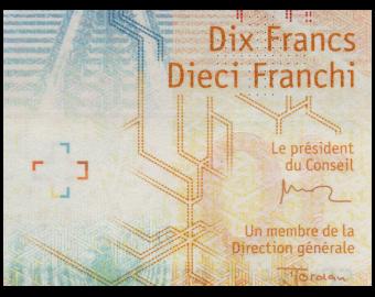 Suisse, P-75a, 10 francs, 2016