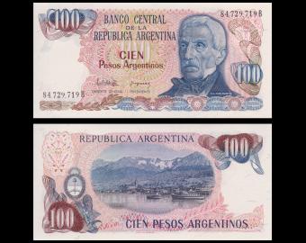 Argentina, P-315, 100 pesos argentinos, 1983