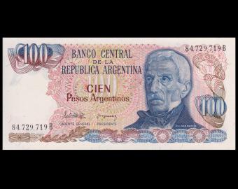 Argentine, P-315a, 100 pesos argentinos, 1983