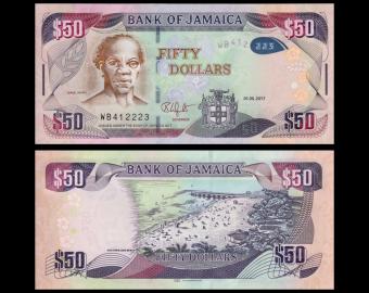 Jamaïque, P-94c, 50 dollars, 2017