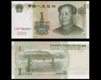 Chine, P-895c, 1 yuan, 1999