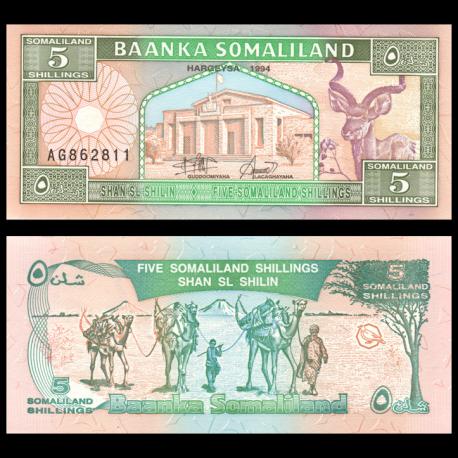 Somaliland, P-01, 5 shillings, 1994