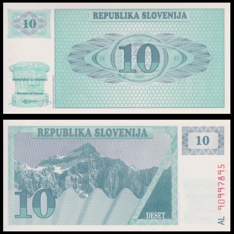 Slovénie, P-04, 10 tolar, 1990