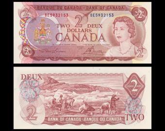 Canada, P-086a, 2 dollars, 1974, SPL / A-UNC