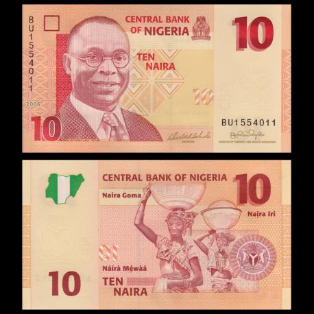 Nigéria, P-33a, 10 naira, 2006