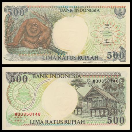 Indonesia, P-128f, 500 rupiah, 1997