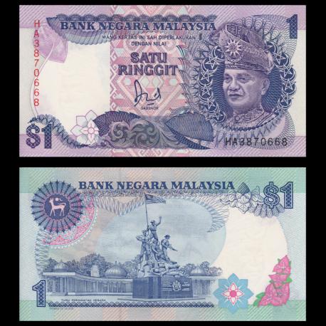 Malaisie, P-27b, 1 ringgit, 1989
