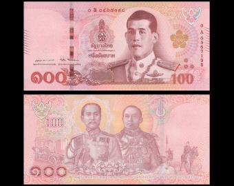 Thailand, P-137, 100 baht, 2018