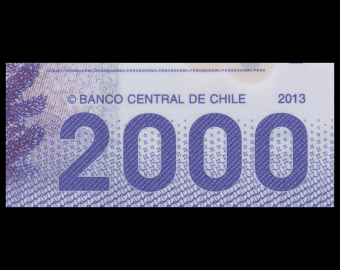 Chile, P-162c, 2000 pesos, 2013, Polymer
