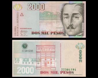 Colombia, P-457u, 2000 pesos, 2013