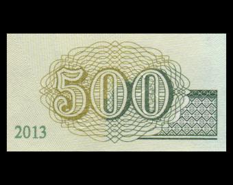 Mongolie, P-66d, 500 tugrik, 2013