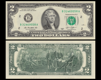 USA, P-538B, 2 dollars, New York, 2013