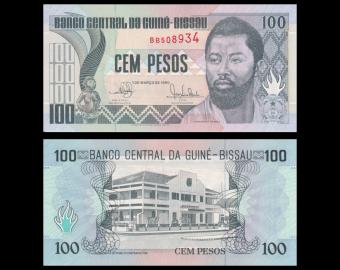 Guinée-Bissau, P-11, 100 pesos, 1990